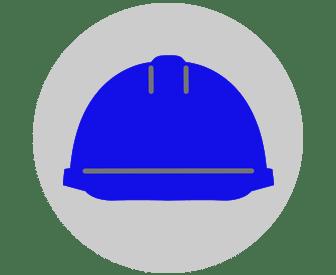BLUE HARD HAT FOR SITE SUPERVISOR