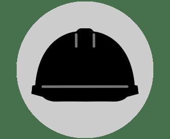 BLACK HARD HAT FOR SITE VISITORS